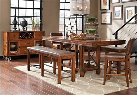 red hook pecan  pc counter height dining room dining room sets rooms   furniture dining