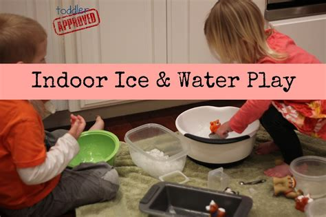 toddler approved simple indoor activities for 315   ice and water play