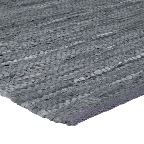 tapis poil gris pas cher cuir tapis peau 55x85 gris