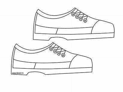 Coloring Shoes Printable Shoe Pages Blank Template