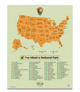 All National Parks Map