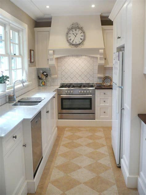 white french country galley kitchen hgtv