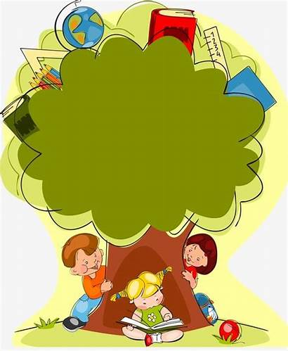 Tree Children Knowledge Background Clipart Cartoon Child