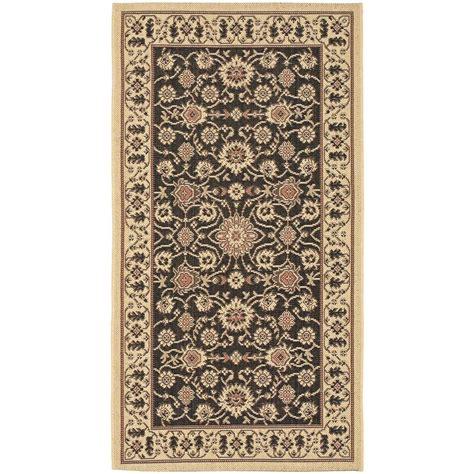 home depot outdoor rugs safavieh courtyard black 2 ft 7 in x 5 ft indoor