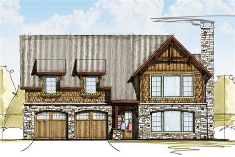 rugged  rustic  bed carriage house plan ck