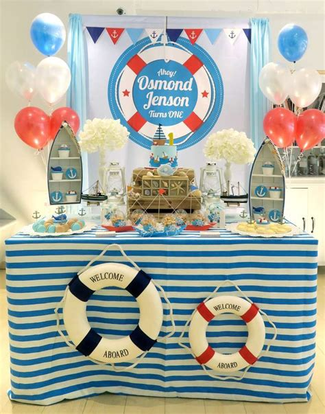 Ideas Nautical Theme by This Nautical Themed 1st Birthday Is Awesome