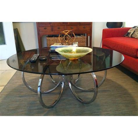 Milo baughman coffee table grabcad. Milo Baughman Chrome Round Coffee Table   Chairish