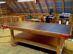 Heavy Duty Shop Table DIY Woodshop - YouTube
