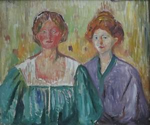 File:'Olga and Rosa Meissner' by Edvard Munch, Bergen ...