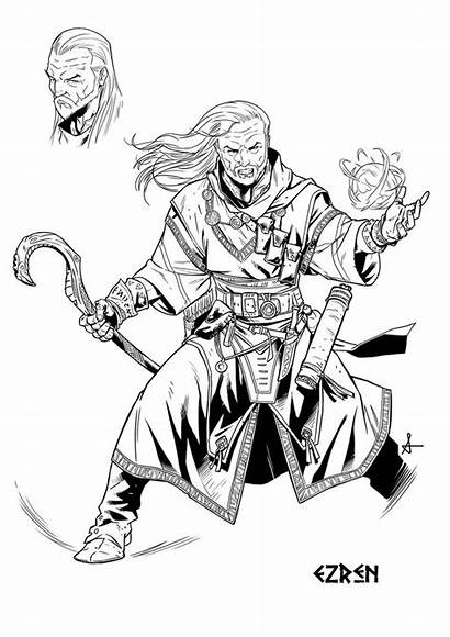 Pathfinder Ezren Izaakse Sean Deviantart Iconics Character