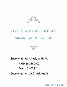 Class Diagram Of School Management System  Oop