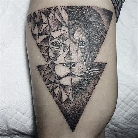 geometrictattoo lion geometric  instagram tattoo idea