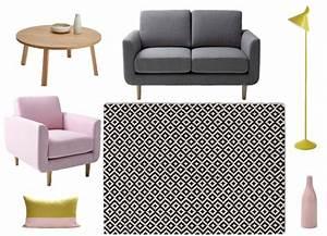 Decorer un salon dans le style scandinave joli place for Tapis oriental avec canapé vintage la redoute