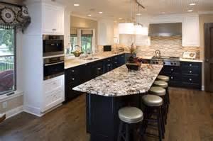 kitchen stone backsplash ideas with dark cabinets