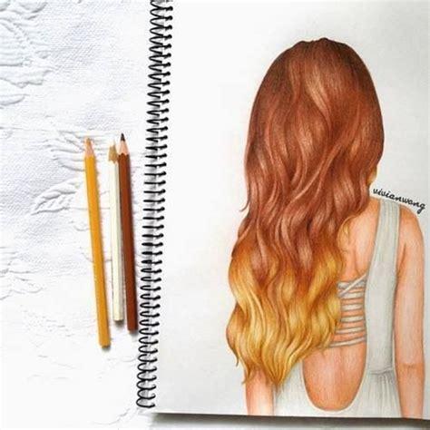 Girl Hair Drawing Ombr 233 Hair Girl Drawing Art Pinterest Girls Girl