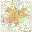 Doylestown Pennsylvania Street Map 4219784