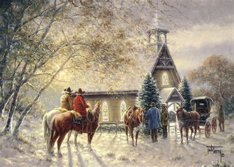 Delight all with christmas cards from zazzle! Cowboys Outside Church: Jack Terry (1 card/1 envelope) LPG Western Christmas Card from ...