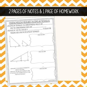 Show that the two triangles given beside are similar and calculate the lengths of sides pq and pr. Similar Triangles - Interactive Notes & Homework by ...