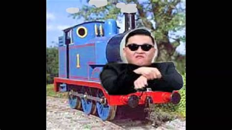 thomas  tank engine meets gangnam style youtube