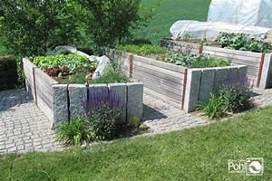Hochbeet Im Garten : hochbeet kombiniert mit stein und holz garten pinterest ~ Lizthompson.info Haus und Dekorationen