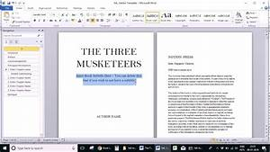 How To Format Your Book Using Microsoft Word