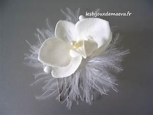 Peigne Cheveux Mariage : peigne cheveux mari e orchid e et plumes ~ Preciouscoupons.com Idées de Décoration
