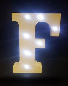 buy wooden led light up letter white f from chair cover With led light up letters