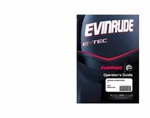 2007 Evinrude 40 50 60 Hp E