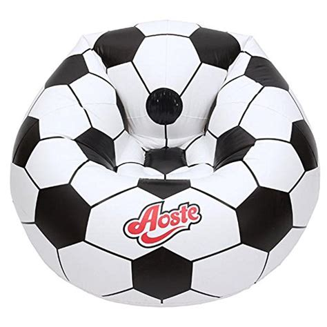 generic football design inflatable sofa outdoor camping relax lazy chair  adults  kids