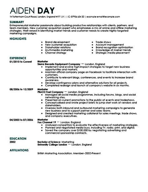 sle executive resume format free sles exles