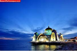 malacca straits mosque in malaysia   The World s Most Beautiful Mosque      Beautiful Masjid On Water