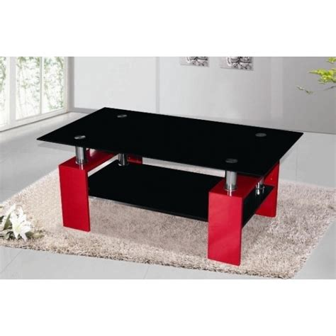 Cheap Metro High Gloss And Black Glass Coffee Table For