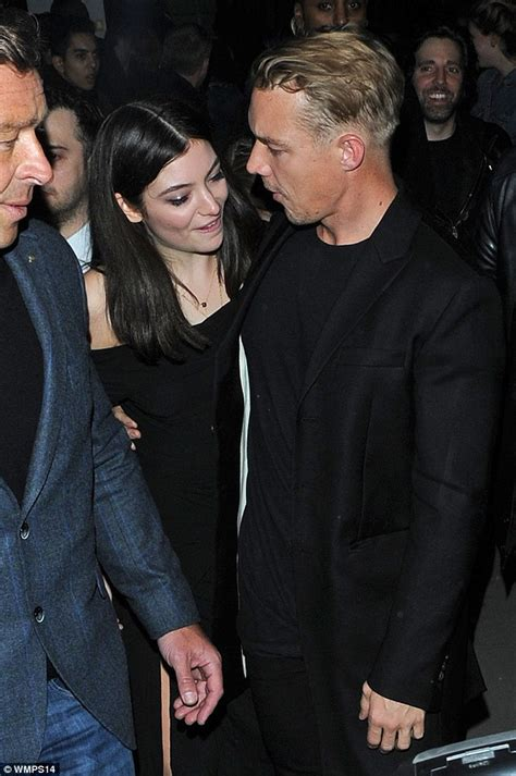 Red Carpet Funny by Lorde Cuddles Up To Diplo As They Attend Brit Awards