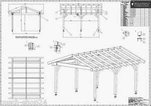 Bauplan Baupläne Satteldach Carport Terrassendach