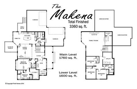 makena floor plan pratthomescom floor plans