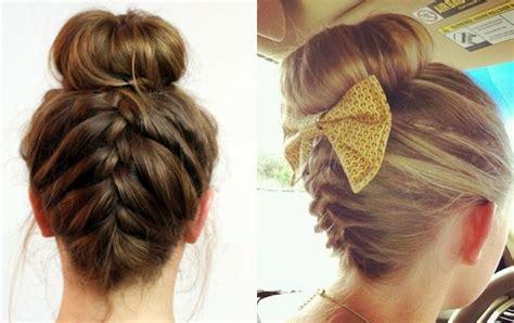 braided hair bun styles easy donut bun hairstyles to create neat image