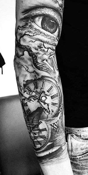 80 Clock Tattoo Designs For Men - Timeless Ink Ideas | Tattoos | Tatouage, Tatouage homme, Idées