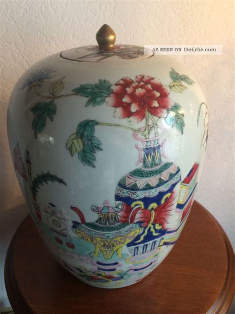 Antike Chinesische Porzellan Deckelvase