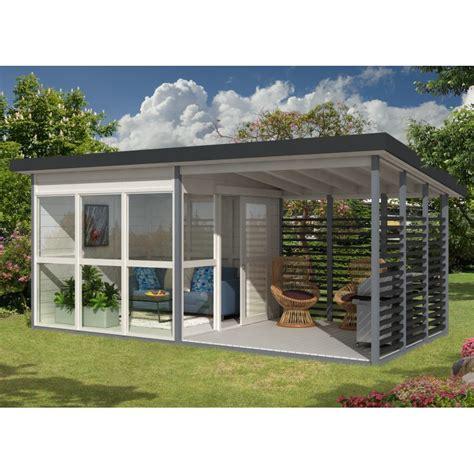 Abri De Jardin Contemporain 15,9m² Panneaux 21mm Emma