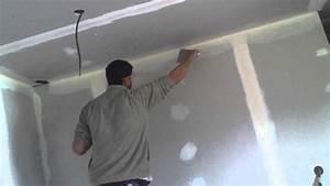 Poser Placo Mur Avec Rail : comment poser une bande d 39 angle pour placo ba 13 avec enduit youtube ~ Melissatoandfro.com Idées de Décoration
