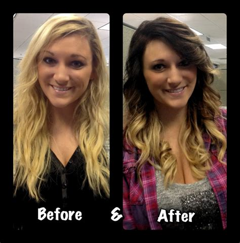 Before And After To Brown by Fall Hair Ombre Before After Brown