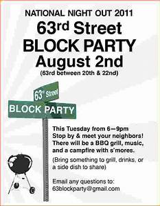 4 block party flyer template bookletemplateorg for Block party template flyers free