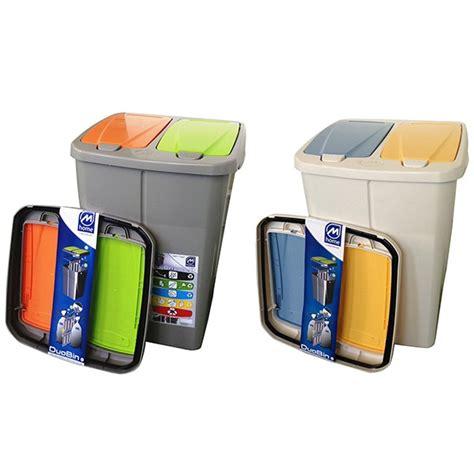 poubelle cuisine tri selectif poubelle de tri sélectif cuisine 2 compartiments 2 x 22 5