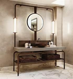 1001 idees pour un miroir salle de bain lumineux les With miroir salle de bain industriel