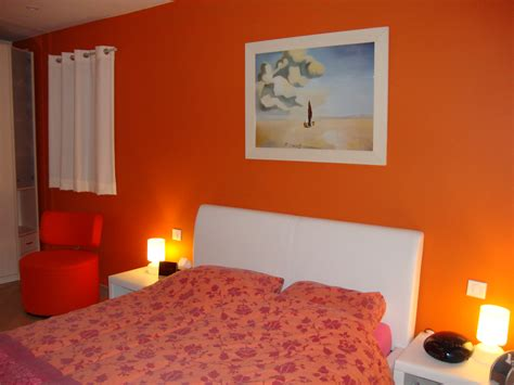 d馗o chambre déco chambre adulte orange
