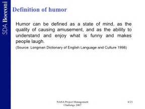 Effect of humor on project management