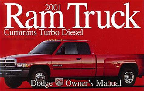online car repair manuals free 2001 dodge ram van 3500 regenerative braking 2001 dodge ram cummins turbo diesel pickup truck original owner manual