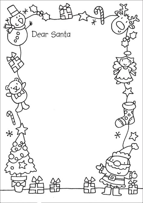 cartas  papa noel  dibujos navidenos  colorear