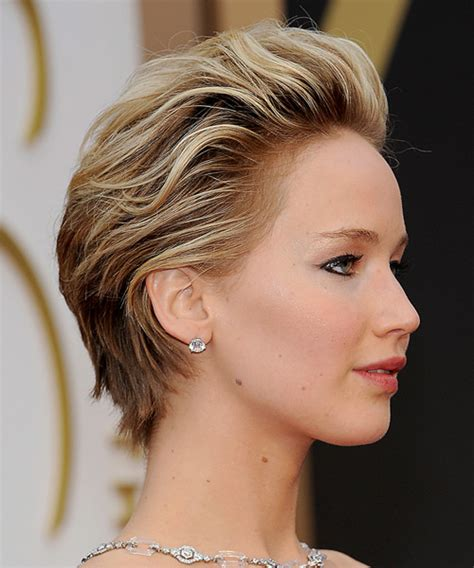 Jennifer Lawrence Formal Short Straight Hairstyle
