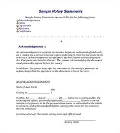 Notary Notarized Letter Statement Sample